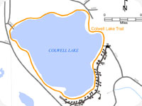 Colwell Lake Trail Map